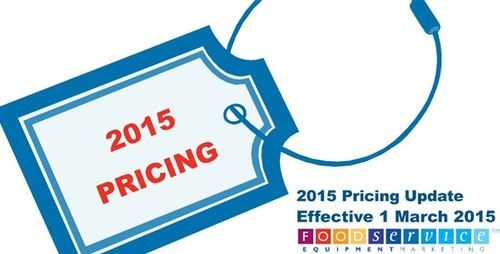 ADVANCE NOTIFICATION OF NEW PRICING – 1ST MARCH 2015