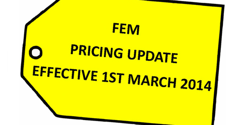Advance Notification of New Pricing - Effective 1st March 2014