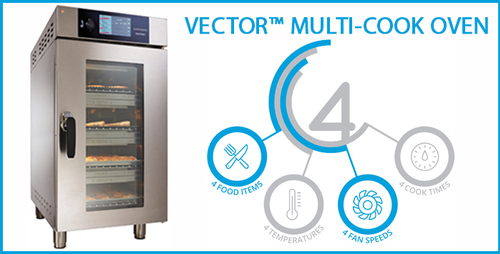 Vector Four-in-One: four temperatures, four cooking times, four fan speeds, one oven