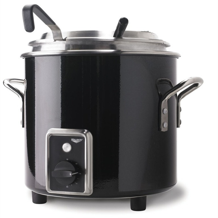Black Heat and Hold Retro Soup Kettle