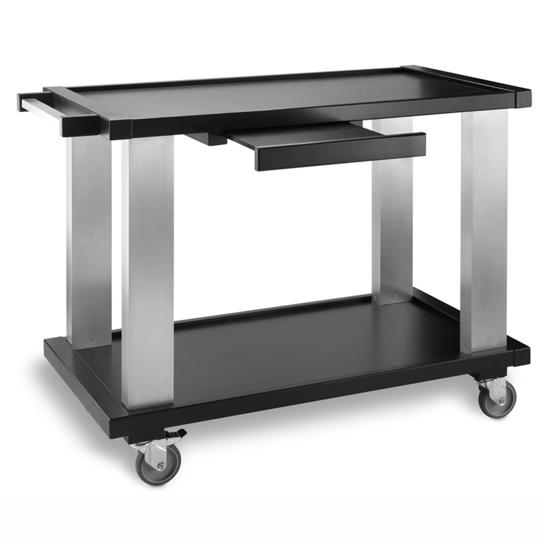 Wooden-Aluminium Trolley 2 Shelf