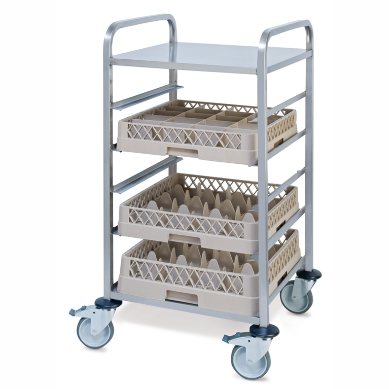 5 Rail Dishwasher Rack Trolley