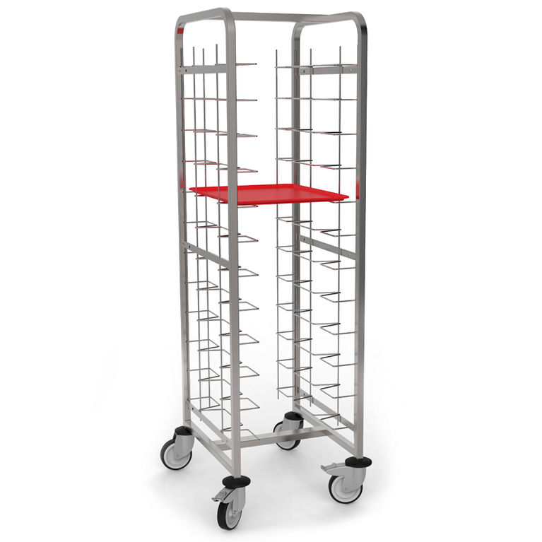 Open Side Self-Service Tray Trolley