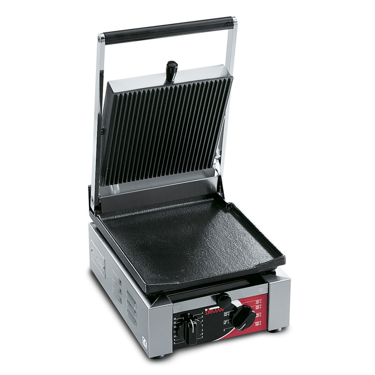 Elio Flat/Ribbed Single Panini Grill