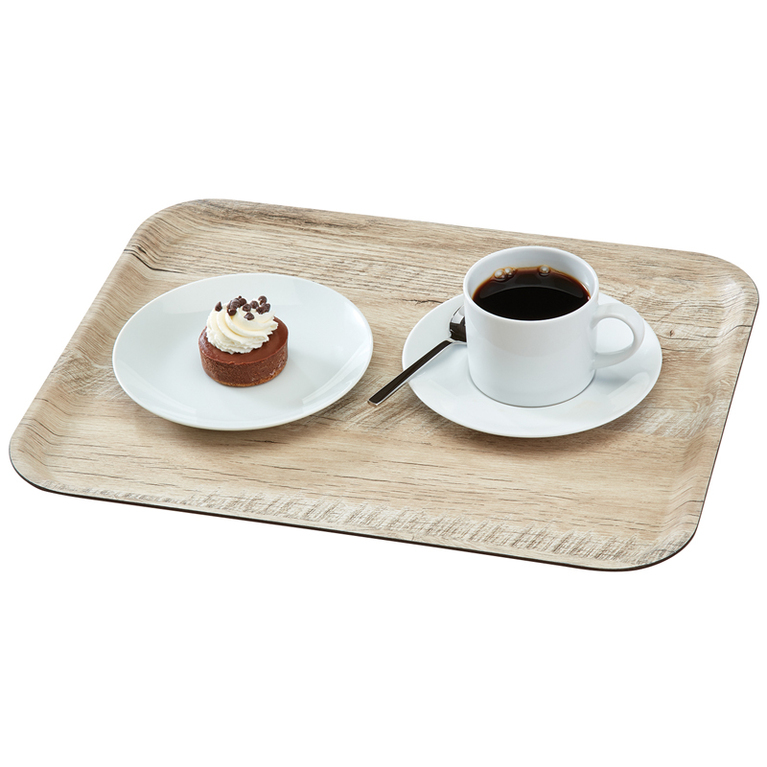 Light Oak Madeira Laminated Tray with Textured Surface