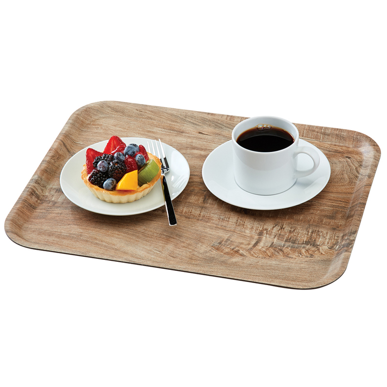 Light Olive Madeira Laminated Tray with Textured Surface