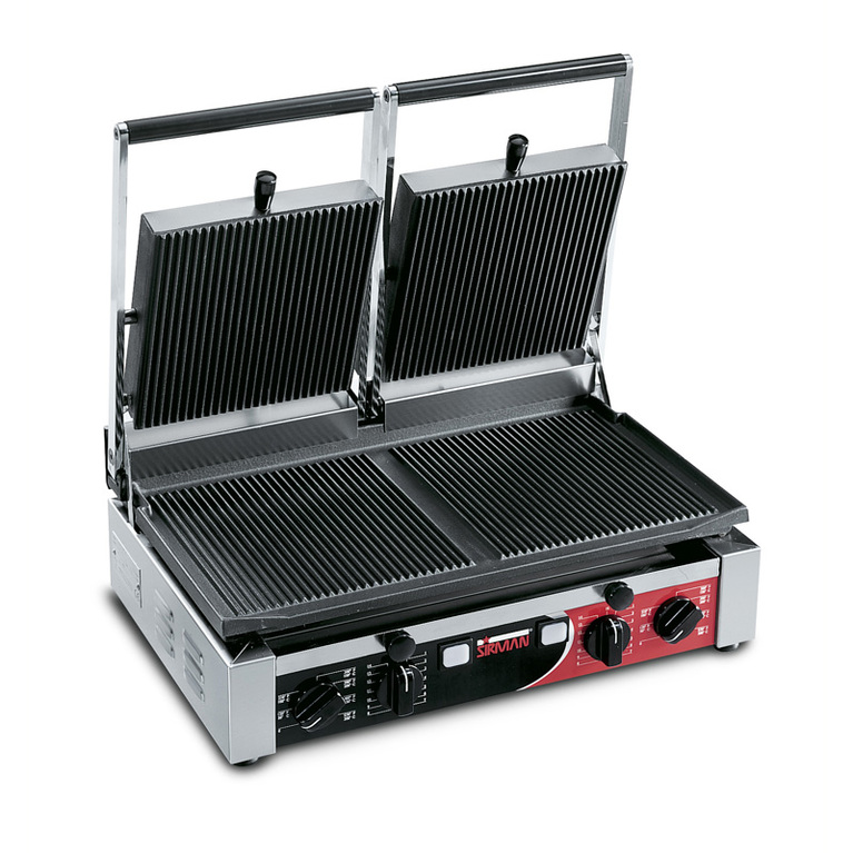 PD Double Ribbed Panini Grill