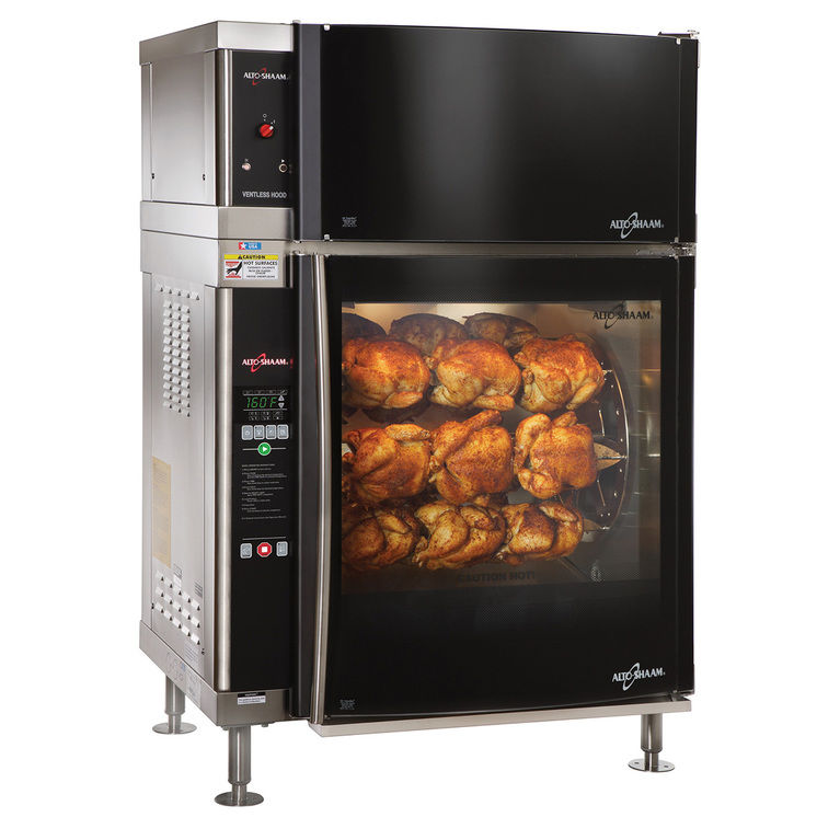 High-Speed Single Pane Electric Rotisserie & Hood