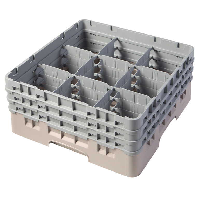 Beige 9 Compartment Camrack