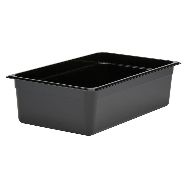 150mm Deep 1/1 Black Polycarbonate GN Pan