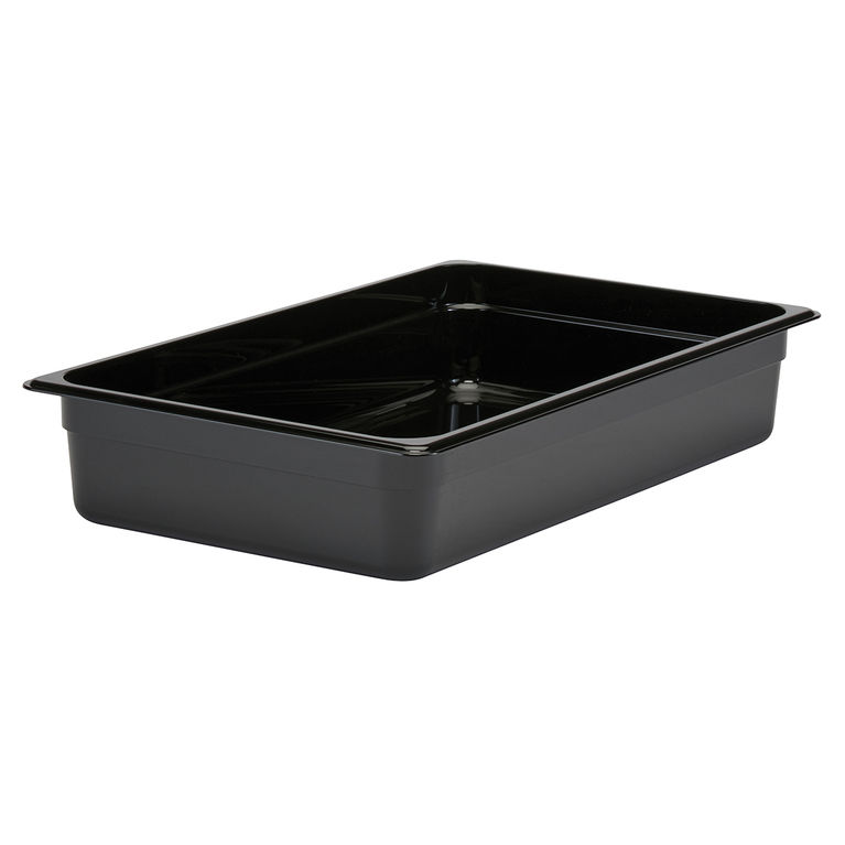 100mm Deep 1/1 Black Polycarbonate GN Pan