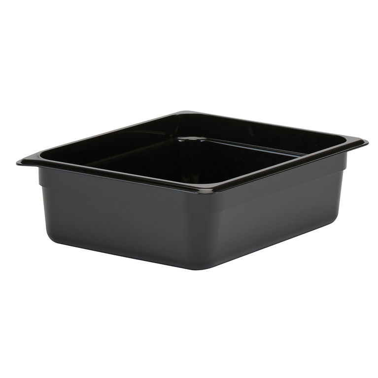 100mm Deep 1/2 Black Polycarbonate GN Pan
