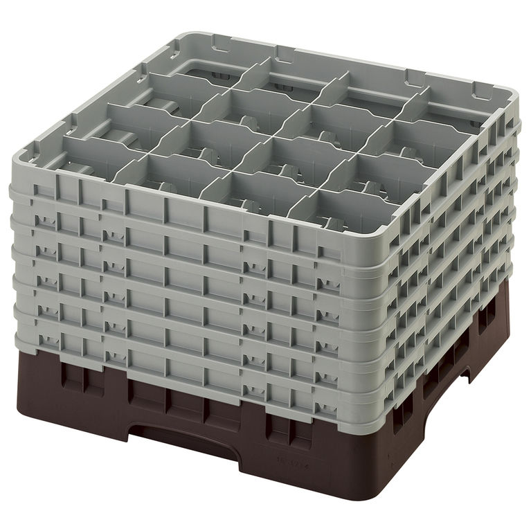 Brown 16 Compartment Camrack