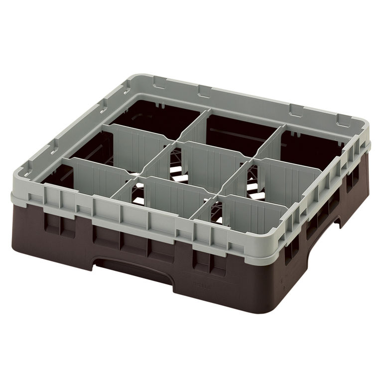 Brown 9 Compartment Camrack