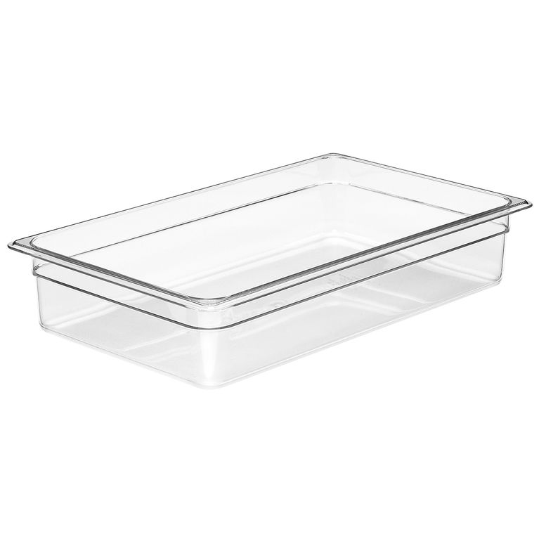 100mm Deep 1/1 Clear Polycarbonate GN Pan