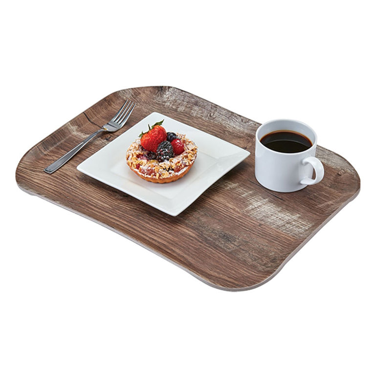 Dark Oak Versa Century Wood Grain Tray