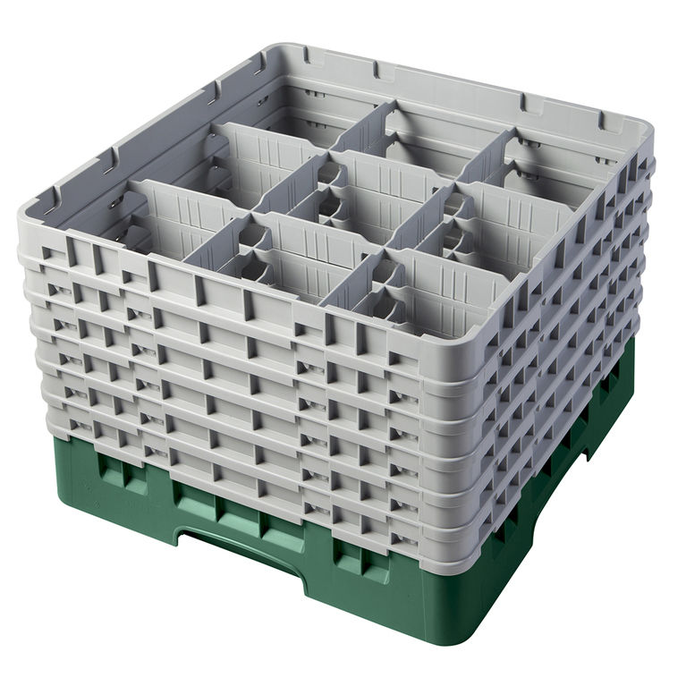 Green 9 Compartment Camrack