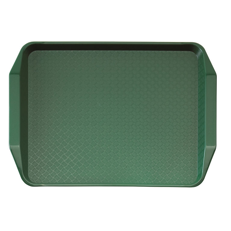 Green Fast Food Tray