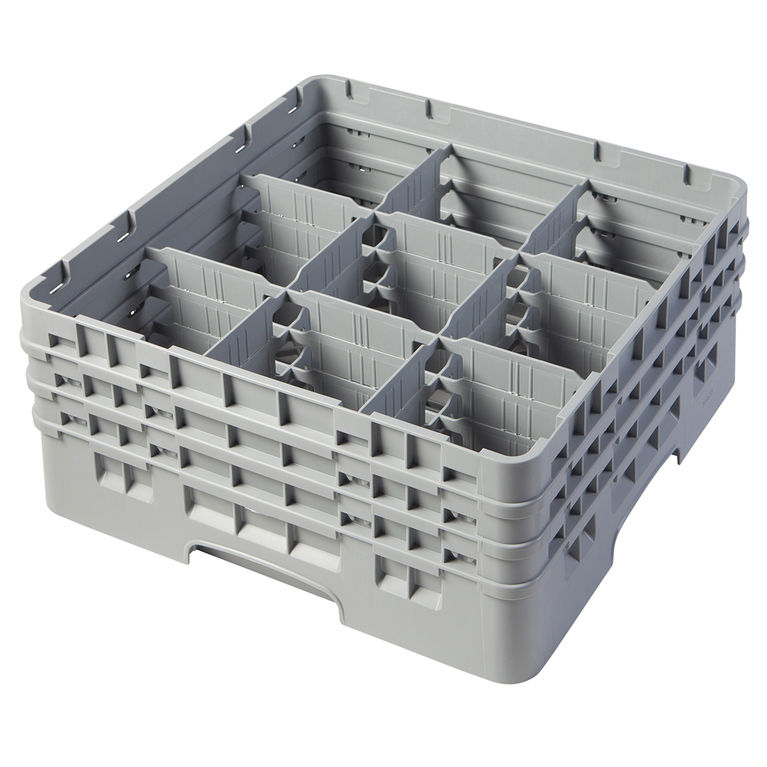 Grey 9 Compartment Camrack