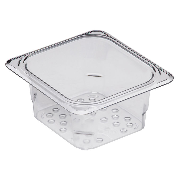 76mm Deep 1/6 Clear GN Colander Pan