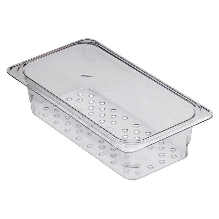 76mm Deep 1/3 Clear GN Colander Pan