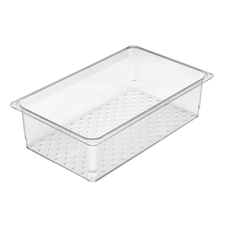 127mm Deep 1/1 Clear GN Colander Pan