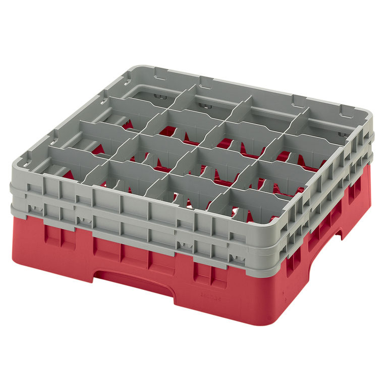 Red 16 Compartment Camrack