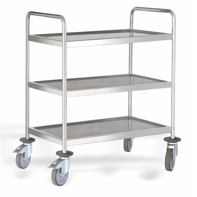3 Shelf Stainless Steel Serving Trolley