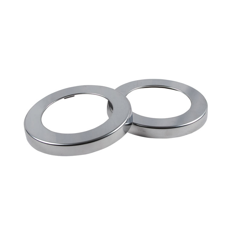 metal finish trim rings - 2 per pack