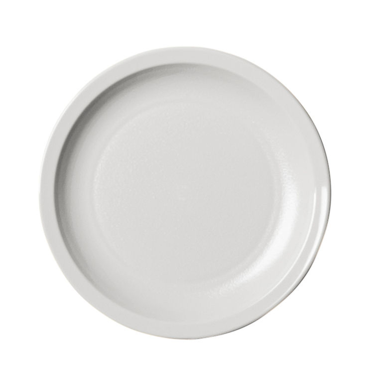 White Narrow Rim Plate