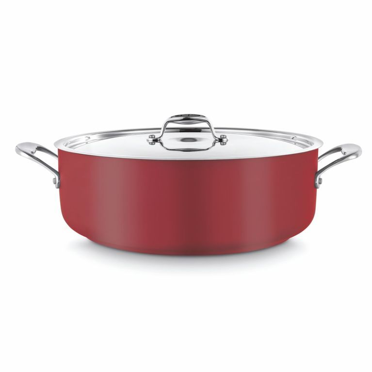 Red Casserole with Lid Ø240
